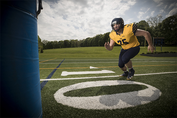 Trinity-Pawling student athlete on Coratti Field