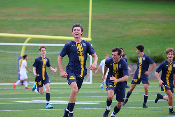 Trinity-Pawling soccer players