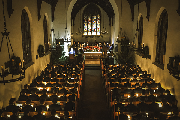 Candlelight Service at All Saints' Chapel at Trinity-Pawling School