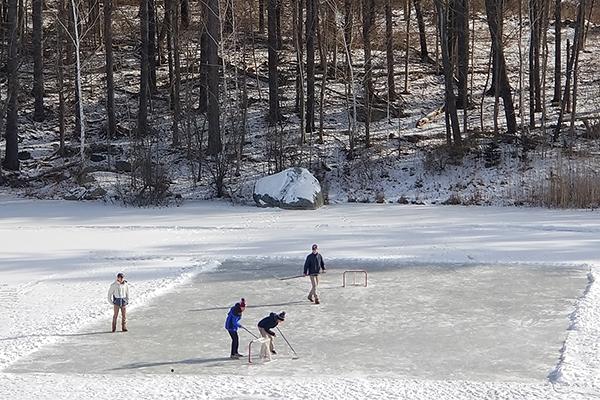 Pond Hockey at Trinity-Pawling School