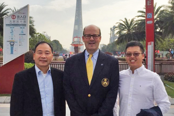 Headmaster Bill Taylor visits China