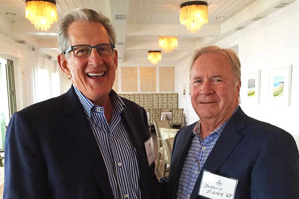 Trinity-Pawling alumni Paul Miller '63 and Dennis Slater '68