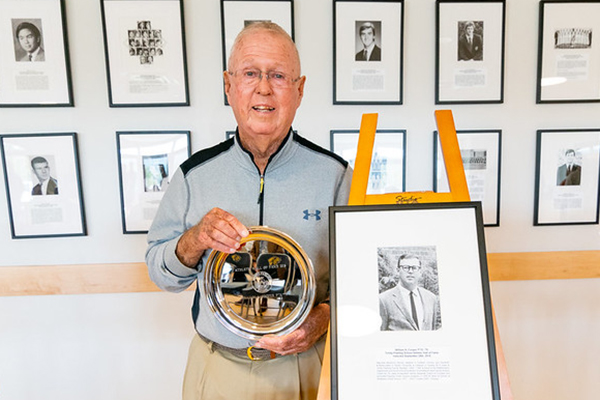 Former faculty member Bill Cooper inducted into Trinity-Pawling School aAthletic Hall of Fame