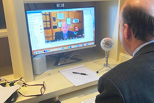Remote teaching begins at Trinity-Pawling