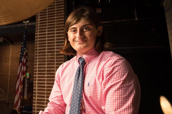 CJ Mezzatesta in Gardiner Theater at Trinity-Pawling School