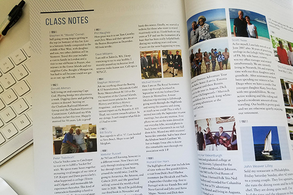 Class Notes in Trinity-Pawling Magazine