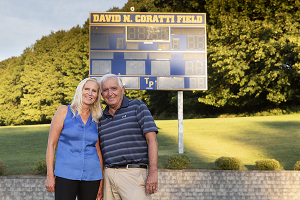 Debbie and Dave Coratti at Trinity-Pawling School