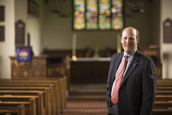 Headmaster Bill Taylor in All Saints' Chapel