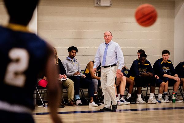 Trinity-Pawling Varsity Basketball Coach Bill Casson