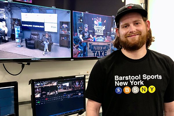 Andrew Manley, Class of 2008, at Barstool Sports