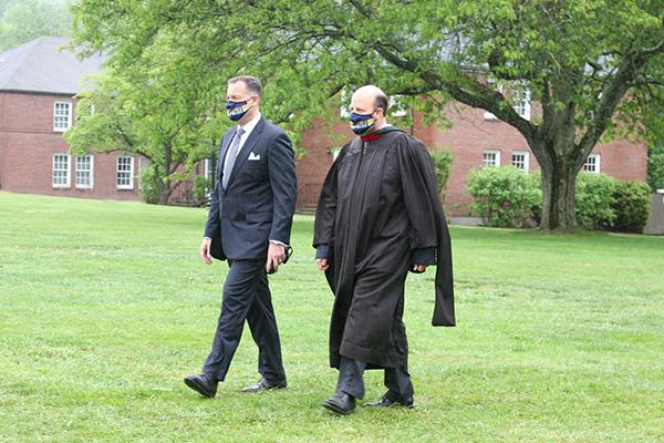 Headmaster Bill Taylor and Board President Erik Olstein